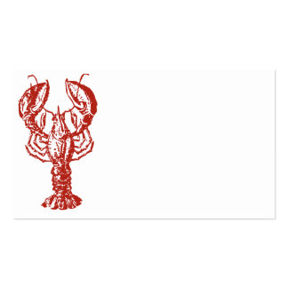 Lobster Art, King of Seafood Gifts Double-Sided Standard Business Cards (Pack Of 100)