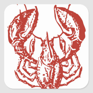 Lobster Art, King of Seafood Gifts Square Sticker