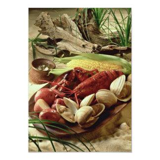 Lobster bake 5x7 paper invitation card