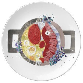 Lobster Beach Porcelain Plate