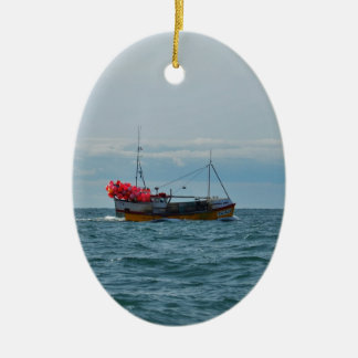 Lobster Boat Amanda Jane Christmas Ornament