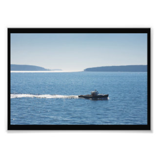 Lobster Boat And Islands Off Mount Desert Island Photograph