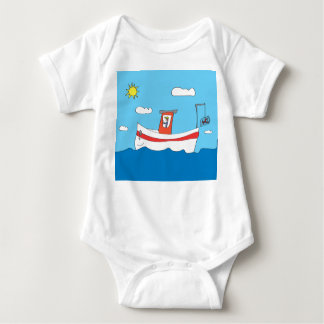 Lobster boat baby bodysuit