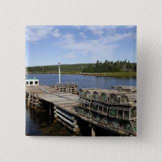 Lobster Boat, Mushaboom, Nova Scotia, Canada 15 Cm Square Badge