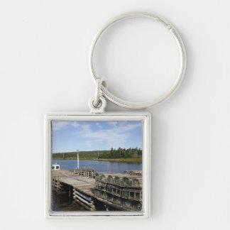 Lobster Boat, Mushaboom, Nova Scotia, Canada Silver-Colored Square Key Ring