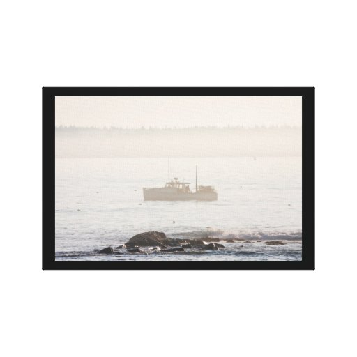 Lobster Boat Off Mount Desert Island Maine Gallery Wrapped Canvas