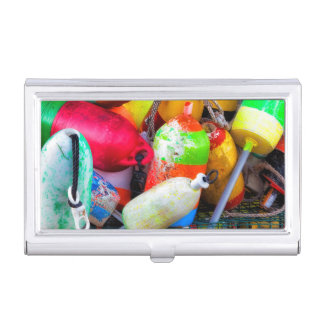Lobster buoys at Bass Harbor Business Card Holder
