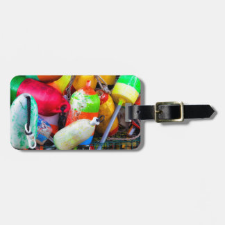 Lobster buoys at Bass Harbor Luggage Tag