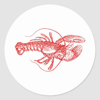 Lobster Classic Round Sticker