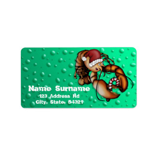 Lobster Claus, address labels