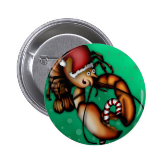 Lobster Claus, button