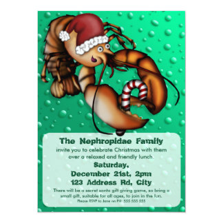 Lobster Claus, christmas party invitation