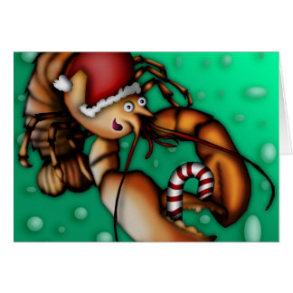 Lobster Claus, greeting card