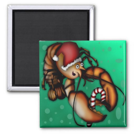 Lobster Claus, magnet square Magnets