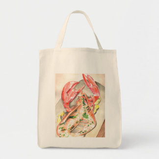 Lobster Coastal Living Shopping Organic Tote Grocery Tote Bag