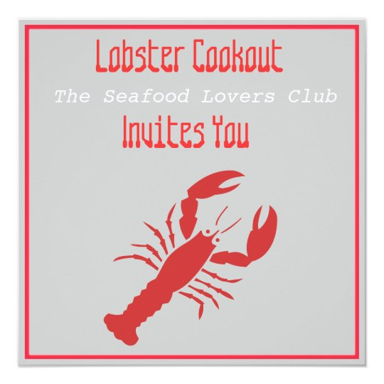 Lobster Cookout Card