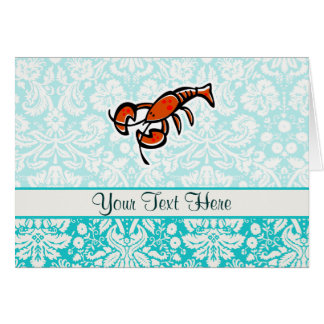 Lobster; Cute Card