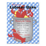 """Lobster Dinner 4.25"""" X 5.5"""" Invitation Card"""