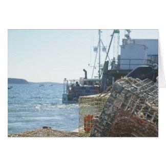 Lobster Fishing in Bar Harbor Card