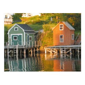 Lobster huts postcard