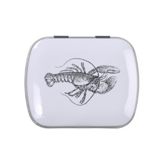 Lobster Illustration Jelly Belly Tin