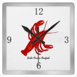 Lobster Image Custom Restaurant Wall Clock Clocks