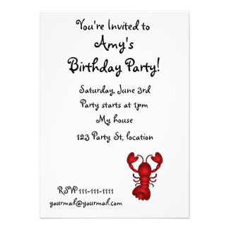 Lobster Personalized Invitation