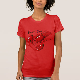 Lobster Ladies Red T-shirt Template