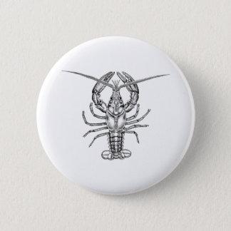 Lobster Line Art 6 Cm Round Badge