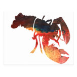 Lobster Mixed Media Collage Post Cards
