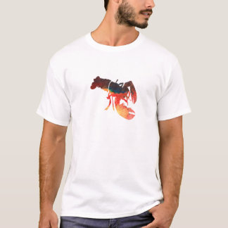 Lobster Mixed Media Collage T-Shirt