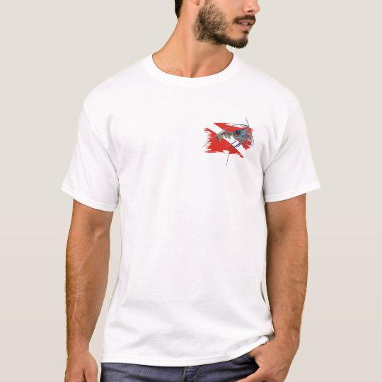 lobster on shredded flag T-Shirt