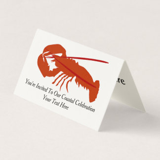 Lobster Party Card