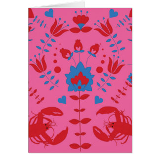 lobster pattern card