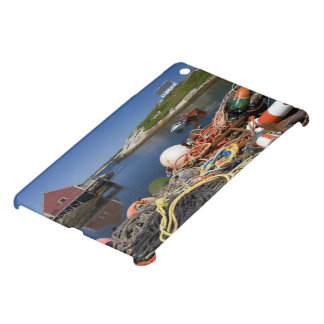 Lobster pots, buoys, and ropes on the dock at iPad mini case