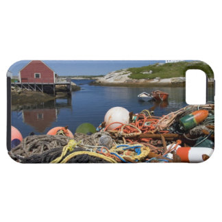 Lobster pots, buoys, and ropes on the dock at iPhone 5 case