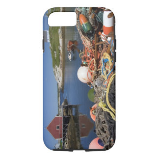 Lobster pots, buoys, and ropes on the dock at iPhone 7 case
