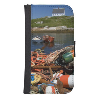 Lobster pots, buoys, and ropes on the dock at samsung s4 wallet case
