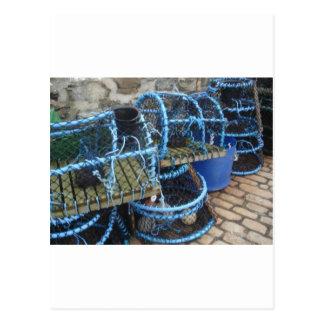 Lobster pots postcard