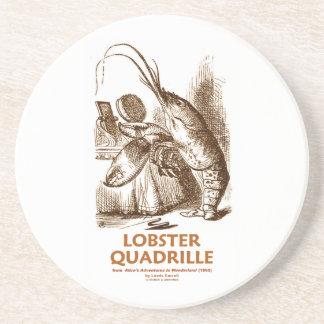 Lobster Quadrille (Brush Mirror Wonderland Humor) Sandstone Coaster
