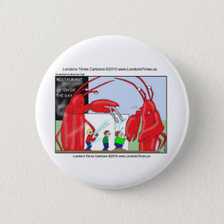 Lobster Restaurant Funny Tees Mugs & Gifts 6 Cm Round Badge