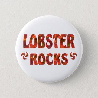 LOBSTER ROCKS 6 CM ROUND BADGE