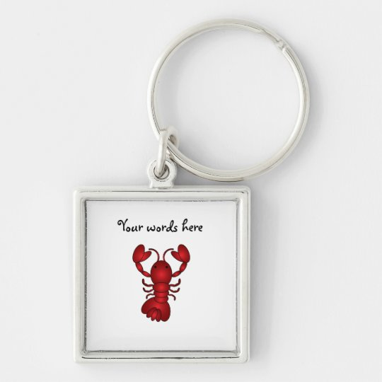 Lobster Silver-Colored Square Key Ring