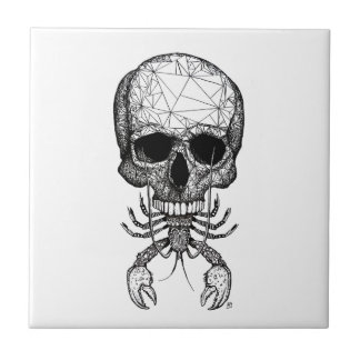 Lobster Skull Tile