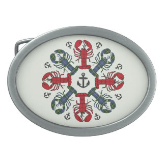 Lobster Snowflake Anchor N.S.Christmas belt buckle