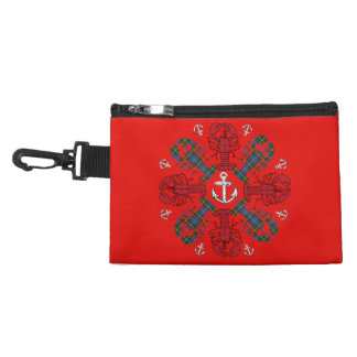 Lobster Snowflake Anchor N.S. Christmas clip on Accessory Bag