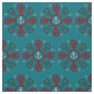 Lobster Snowflake Anchor N.S. Christmas fabric