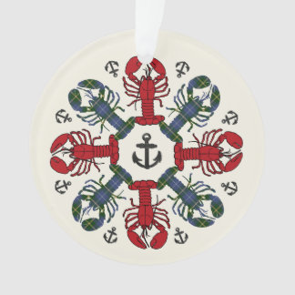 Lobster Snowflake Anchor N.S. Christmas ornament
