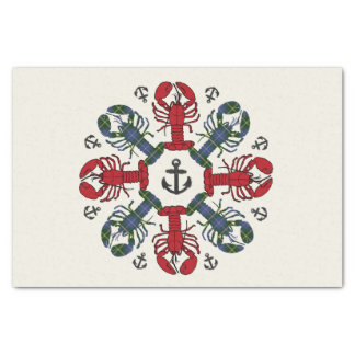 Lobster Snowflake Anchor N.S. Christmas paper