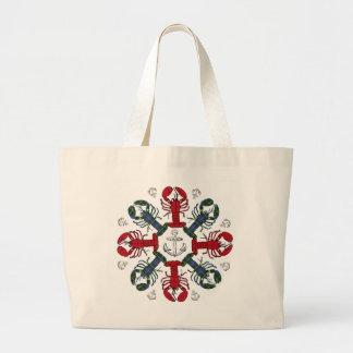 Lobster Snowflake Anchor N.S. Christmas tote bag